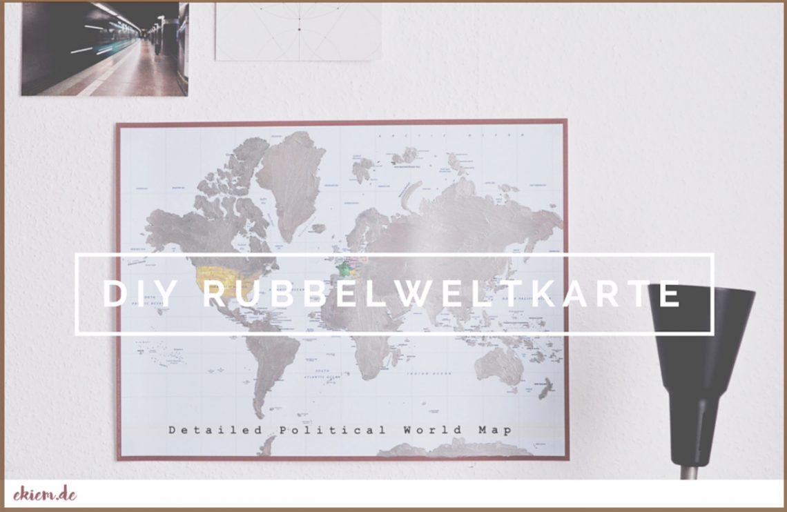 Diy Rubbelweltkarte Hello Maike